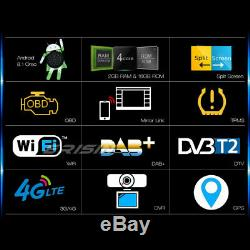 Double 2din Gps Android 8.1 Car Radio Wifi Dab + Tnt Radio Obd Bluetooth Navi Usb