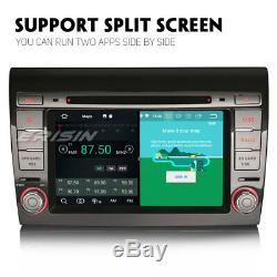 Double Din Android 8.0 Car Radio Navi 4g Tnt Dab + Gps Navigation For Fiat Bravo