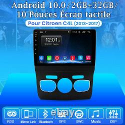 For Citroen C4l 2013-2017 Android 2din 10autoradio Gps Navi Bt Wifi Dsp Dab+