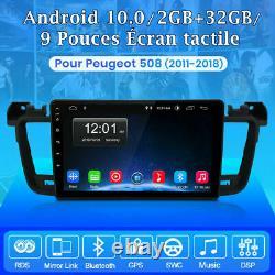 For Peugeot 508 2011-2018 Autoradio Android 10.0 Gps Navi Wifi Dab Dsp 2+32gb