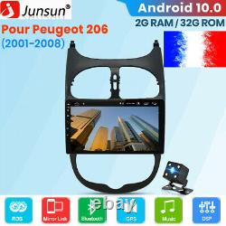 For Popgeot 206 2001-2008 Autoradio 9 Android10.0 Sat Wifi Navi Dab+ Bluetooth