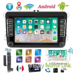 July 2 Din Car Gps Navi Android 8.1 Wifi Bluetooth For Vw Golf Polo Passat
