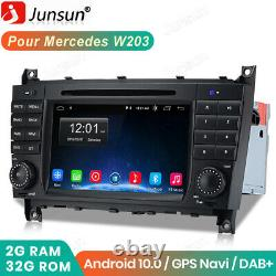 Navi Gps Android 10.0 Dab Autoradio For Mercedes Benz C/clc/clk-class W203