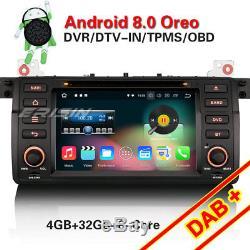 Octa Core Android 8.0 Dab + Gps Navi Bmw M3 E46 3er 320 Mg Zt Rover 75