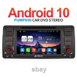 Pumpkin Android 10.0 Autoradio Dab Gps Navi DVD For Bmw 3 Series E46 M3 318 320