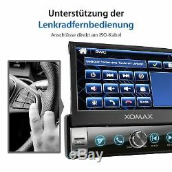 Radio With Bluetooth Mirror Car Gps Screen Sd Usb Aux 7 Color 1din