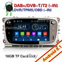 Tnt Dab + Android 8.1 Ford Autoradio Mondeo Focus S / C-max Galaxy Gps Navi Usb Obd