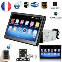 10.1 1 DIN Autoradio GPS Bluetooth Navi Stereo Player MP5 Android WiFi + caméra