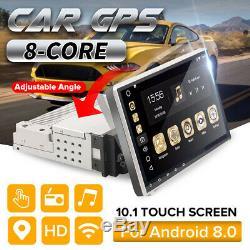 10.1'' 8-Core 1DIN Android 8.0 Autoradio WIFI Navi GPS Stéréo MP5 bluetooth DAB+