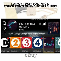 10.1 Android 9.0 Double Din Autoradio DAB+ GPS TNT WiFi 4G DVR OBD2 USB BT Navi