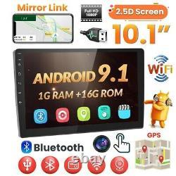 10.1 Android 9.1 Autoradio Stéréo MP5 Player GPS Navi 2 Din WiFi Bluetooth MP5
