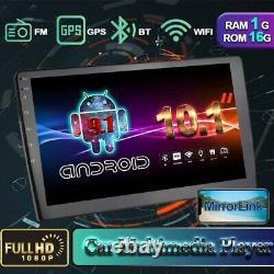 10.1 Android 9.1 Lien Miroir Autoradio Stéréo GPS Navi 2 Din Wifi FM MP5 Joueur