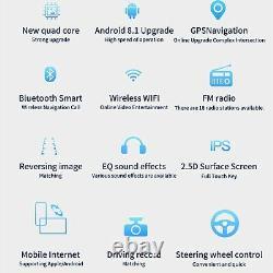 10.1 Android Autoradio Stéréo Lecteur MP5 GPS Navi Double 2Din Wifi + Caméra H8