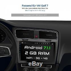 10.1 Autoradio Avec Android 7.1 2gb Ram Approprié Pour Vw Golf 7 2013-2017 Navi