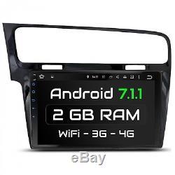 10.1 Autoradio Avec Android 7.1 Approprié Pour Vw Golf7 2013-2017 2gb Wifi Navi