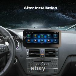 10.25 HD IPS DAB+Android 10 Autoradio CarPlay GPS Navi 4G Mercedes C-Class W204
