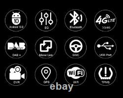 10.25 écran Tactile GPS Navi For BMW 5er F10 F11 NBT Android 10.0 DAB Autoradio
