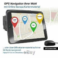 10,9 pouces IPS Écran 8 curs 4 Go Android 8.1 autoradio Navi GPS Bluetooth 2Din