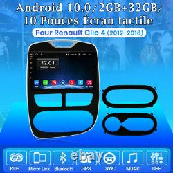 10 Autoradio 2DIN Android 10 GPS Navi BT WIFI DSP Pour Renault Clio 4 2012-2016