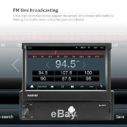 1Din Android 8.1 GPS Navi Autoradio Wifi Bluetooth 7'' Pliable Écran MP5 FM