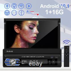 1Din Bluetooth 7''Wifi Autoradio Android 10.1 GPS Navi FM Lecteur Android/Iphone