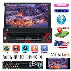 1Din Staccabile GPS Navi Autoradio 7Android 10 Car DVD WiFi DAB+ DVB-T 4G TPMS