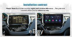 1 Din Android autoradio Pour Peugeot 2008 208 2013 à 2018 Stéréo GPS Navi WIFI