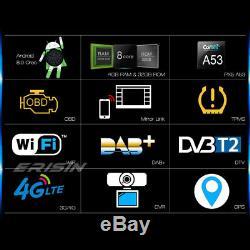 1 Din Détachable Autoradio Android 8.0 DAB+WiFi GPS OBD TNT 4G DVR BT Navi CD SD