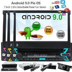 1 Din Staccabile GPS Navi Autoradio Android 9.0 WiFi DAB+ DVB-T2 USB SD Caméra