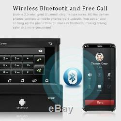 1din Autoradio Android 8.1 Gps Navi Wifi Écran Tactile Fm Usb Bt Mp5 Lien Miroir