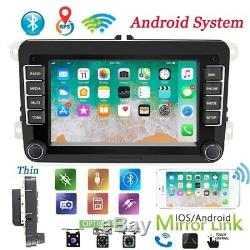 2DIN 7Autoradio Android 8.1 GPS Navi Bluetooth pour VW GOLF 5 PASSAT POLO Caddy