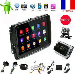 2DIN Autoradio Android 6.0 GPS Navi Bluetooth pour VW GOLF 5 PASSAT POLO caméra
