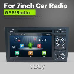 2DIN Autoradio Mit Bluetooth GPS Navi DVD Android 8.0 Für Audi A4 S4 RS4 B7 B9