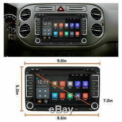 2DIN DVD Autoradio Android 7.1 GPS Navi Caméra pour VW GOLF 5 PASSAT TOURAN POLO