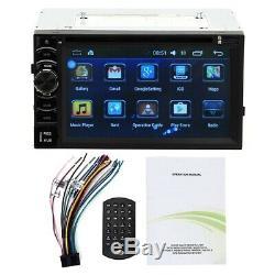 2Din 6.2 Autoradio Écran Tactile 1080p Voiture Car Stéréo GPS Navi FM AUX BT