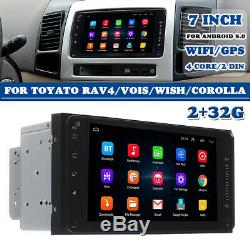 2+32G 7'' Autoradio 2 DIN Android 8.0 Touch WIFI MP5 GPS Navi Video pour Toyota