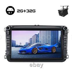 2 DIN 8 Autoradio Android 2+32G GPS Navi + Caméra Pour VW GOLF 5 PASSAT Tiguan