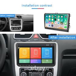 2 DIN 9'' AUTORADIO ANDROID 8.1 GPS NAVI pour VW POLO GOLF 5 PASSAT TOURAN SKODA