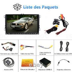 2 DIN 9 AUTORADIO Android RDS GPS NAVI Caméra For VW GOLF 5 Passat Touran Skoda