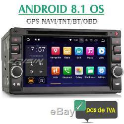 2 Din Android 8.1 Autoradio GPS Tactile GPS navi Bluetooth OBD2 TPMS TNT CD WiFi