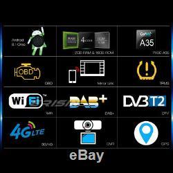 2 Din DAB+ Android 8.1 Autoradio GPS WiFi MP5 TPMS TNT 4G OBD Bluetooth RDS Navi