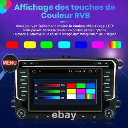 7Android 10.0 Autoradio GPS Navi RDS DAB+Pour VW Golf 5 6 Passat EOS Skoda Seat