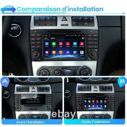 7Android 10 Autoradio GPS Navi CD DAB USB Pour Mercedes Benz CLK-W209 W203 C220
