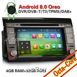 7Android 8.0 Autoradio Navi DVD DAB+GPS Navigation for FIAT BRAVO 2007-2014