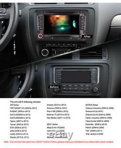 7Android 8 DAB+GPS SAT NAVI Autoradio USB Bluetooth 2 Din for VW Touran T5 Golf
