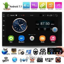 7 2DIN Quad Core Android 7.1 WiFi 3G Autoradio GPS Navi Stéréo Radio MP5 Player