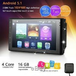 7 2DIN Quad Core Androïd Voiture Autoradio Stéréo GPS Navi Bluetooth HD tactile