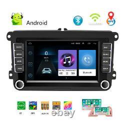 7 2 DIN Autoradio Android 8.1 GPS NAVI WIFI Bluetooth Pour VW GOLF PASSAT POLO