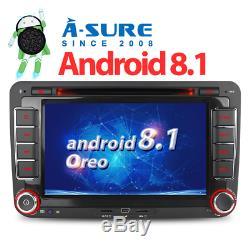 7 4G Android 8.1 DAB DVD GPS Navi Autoradio Pour VW Passat Touran Golf 5 Sharan