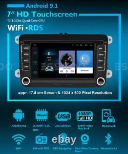 7 AUTORADIO Android 9.1 GPS NAVI RDS + Caméra For VW GOLF 5 Variant Passat POLO